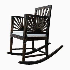 Antique Swedish Sunburst Rocking Chair