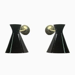 Italienische Mid-Century Wandlampe