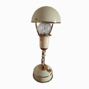 Lackierte Tischlampe mit Gelenk aus Bronze, 1940er