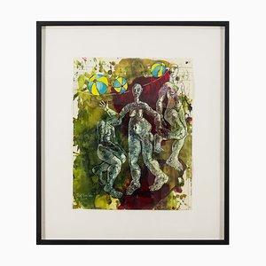 Thomas Gatzemeier, Three Graes in 2002, Tempera and Watercolor