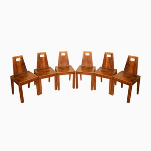 Vintage Oak Dining Chairs, Set of 6