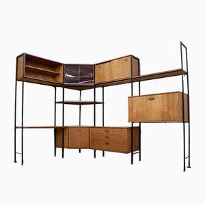Teak 14-Piece Shelving Unit from Avalon, 1960s
