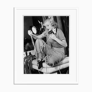 Ginger Rogers Working on Her Sailors Knots Archival Pigment Print Framed in White by Everett Collection