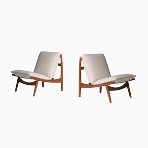Lounge Chairs by Joseph-André Motte for Steiner, 1963, Set of 2