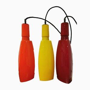 Italienische Murano Glas Deckenlampen von Vistosi, 1960er, Set of 3