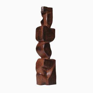 Grande Sculpture Abstraite en Bois, 1960s