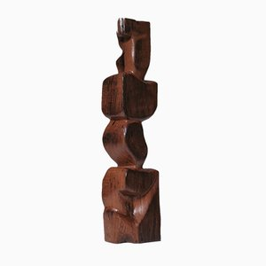 Große Abstrakte Skulptur aus Holz, 1960er