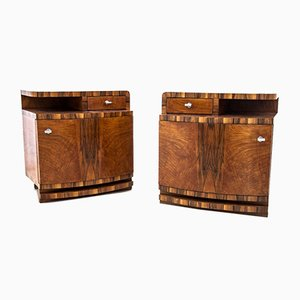 Polish Art Deco Nightstands, 1950s, Set of 2