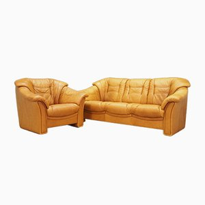 Dänisches Vintage Sofa & Sessel von Skalma Møbelfabrik, 1970er, 2er Set