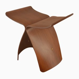 Japanese Rosewood Butterfly Stool by Sori Yanagi, 1980s