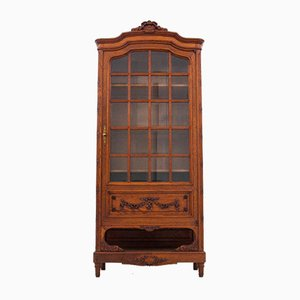 Antique French Walnut Bookcase / Display Case, Circa 1880