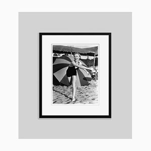Play Time at the Beach Archival Pigment Print Framed in Black by Everett Collection