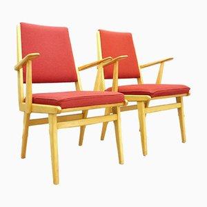 Mid-Century Beech Armchairs, 1962, Set of 2