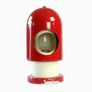 Austria Red & Cream Metal Rocket Table Lamp, 1970s