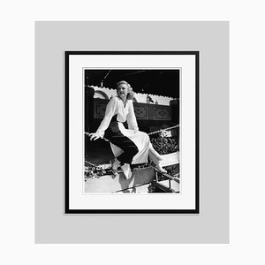 Ginger At the Beach Club Archival Pigment Print Framed in Black by Everett Collection