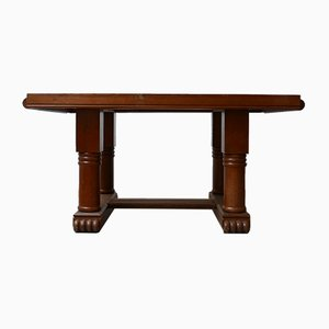 Mid-Century French Art Deco Oak Dining Table