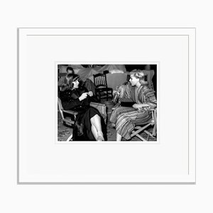 Rogers & Hepburn Chat on Set Archival Pigment Print Framed in White by Everett Collection