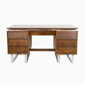 Large Mid-Century Desk on Chrome Legs, 1960s