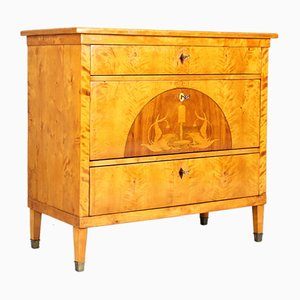 Small Biedermeier Birch Chest of Drawers, 1825