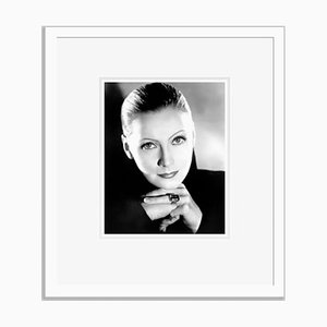 Garbo Archival Pigment Print Framed in White by Everett Collection
