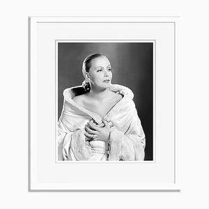 Gorgeous Garbo Archival Pigment Print Framed in White by Everett Collection