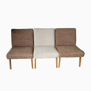 Mid-Century Lounge Barstühle, 1960er, 3er Set
