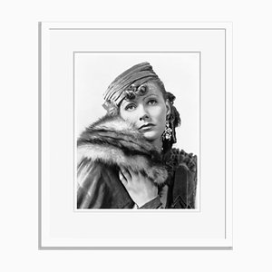 Greta Garbo in Romance Archival Pigment Print Framed in White by Everett Collection