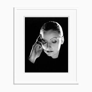 Greta Garbo Archival Pigment Print Framed in White by Everett Collection