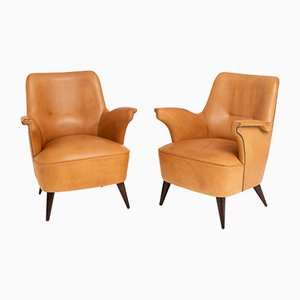 Mid-Century Italian Club Chairs by Giovanni Zoncada, 1950s, Set of 2