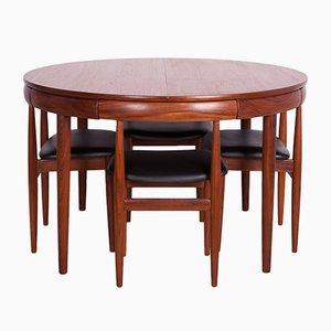 Mid-Century Teak Esstisch & Stühle von Hans Olsen für Frem Røjle, 1960er, 5er Set