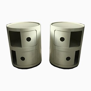 Nightstand Cabinets by Anna Castelli Ferrieri for Kartell, 1967, Set of 2