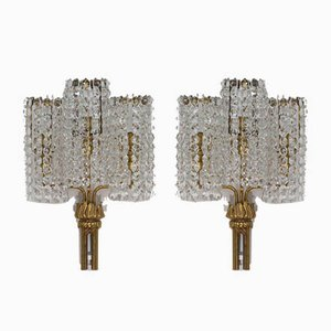 Austrian Crystal Glass Sconces from Bakalowits & Söhne, 1950s, Set of 2