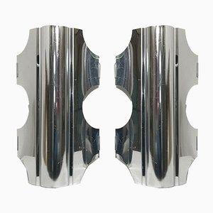 Aluminium Sconces by Doria for Doria Leuchten, 1970s, Set of 2