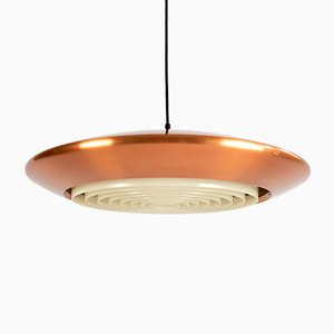 Copper Discus Ceiling Lamp by Johannes Hammerborg for Fog & Mørup, 1960s