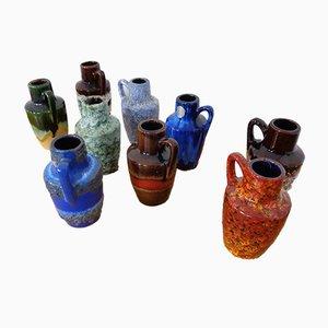 Deutsche 405-13.5 Keramik Vasen von Scheurich, 1960er, 9er Set