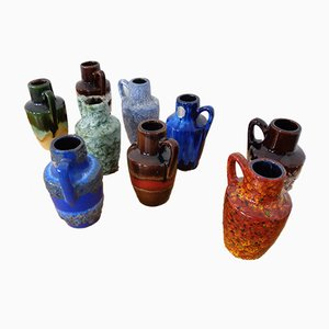 German Ceramic 405-13.5 Vases from Scheurich, 1960s, Set of 9