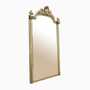 Antiker Antiker Spiegel mit Vergoldetem Holzrahmen, spätes 19. Jh