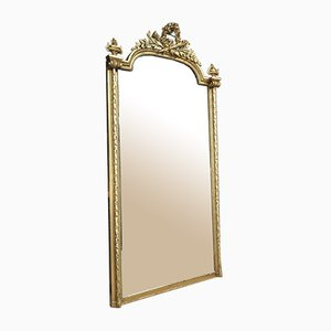 Antique Giltwood Beveled Mirror, Late 1800s