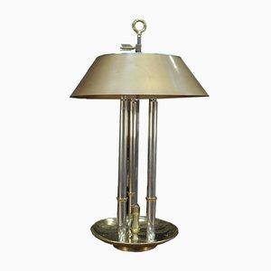 Brass & Chrome Desk or Table Lamp from Maison Baguès, 1970s