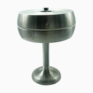 Nickel-Plated Aluminum Table Lamp, Italy, 1960s