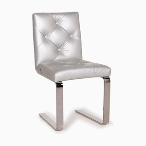 Marilyn Leather & Silver Chrome Chair from Bretz