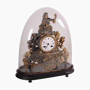 Teca Ebonized Wooden Clock