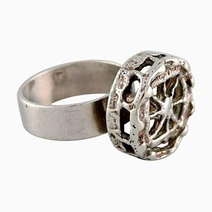 Modernist Ring In Silver by Pentti Sarpaneva, 1970