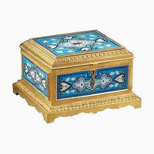 Vergoldete und emaillierte Bronze Box von Maison Boissier, Ende 19. Jh