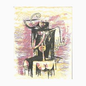 Wifredo Lam - Ohne Titel - Originale Lithographie von Wifredo Lam - 1974