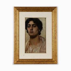 Sconosciuto - Portrait of a Young Boy - Original Oil on Panel - Early 20th Century