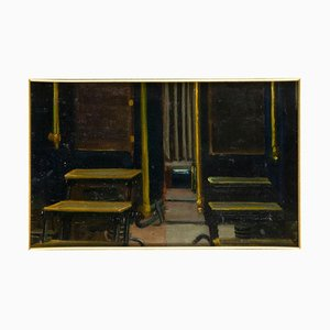 Desconocido - Dos Fotografias - Original Oil on Board - Early 20th Century