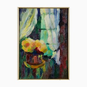 Marcel Gilly - the Window - Öl auf Holzplatte - Frühes 20. Jahrhundert