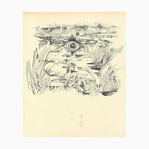 André Masson - Surrealistische Komposition 10 - Originale Collotypie - Mitte 20. Jahrhundert