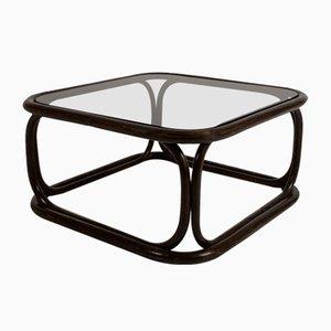 Tavolino da caffè in bambù ebanizzato di Francesco Trabucco per Bonacina, 1972